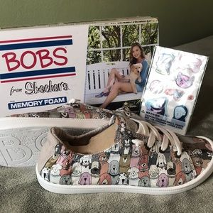Bob's from Skechers sneakers with dog pattern